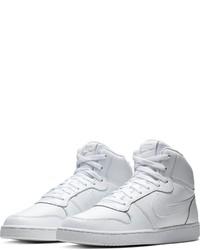 weiße hohe Sneakers aus Leder von Nike Sportswear