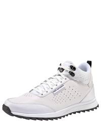 weiße hohe Sneakers aus Leder von PARK AUTHORITY by K1X