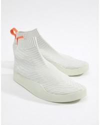 weiße hohe Sneakers aus Segeltuch von adidas Originals