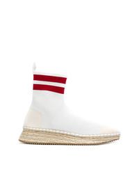 weiße hohe Sneakers aus Segeltuch von Alexander Wang