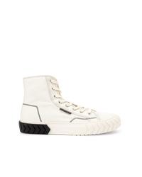 weiße hohe Sneakers aus Segeltuch von Both
