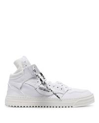 weiße hohe Sneakers aus Segeltuch von Off-White