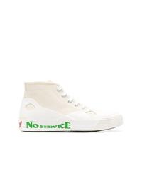 weiße hohe Sneakers aus Segeltuch von Stella McCartney
