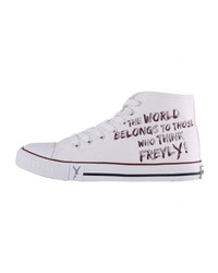 weiße hohe Sneakers aus Segeltuch von SURI FREY