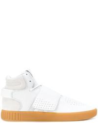 weiße hohe Sneakers aus Wildleder von adidas