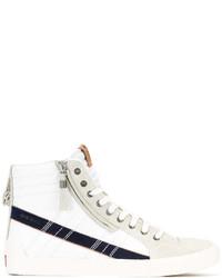 weiße hohe Sneakers aus Wildleder von Diesel