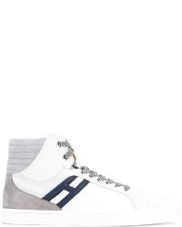 weiße hohe Sneakers aus Wildleder von Hogan