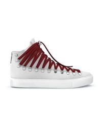 weiße hohe Sneakers aus Wildleder von SWEA