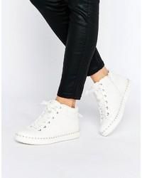 weiße hohe Sneakers von Aldo