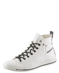 weiße hohe Sneakers von Diesel