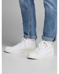 weiße hohe Sneakers von Jack & Jones