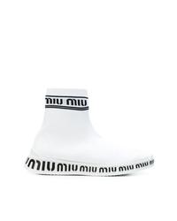 weiße hohe Sneakers von Miu Miu