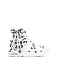 weiße hohe Sneakers von MSGM