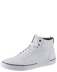 weiße hohe Sneakers von Tommy Hilfiger