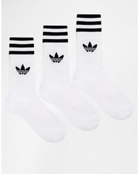 weiße horizontal gestreifte Socken von adidas
