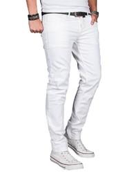 weiße Jeans von Alessandro Salvarini