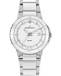 weiße keramische Uhr