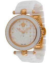 weiße keramische Uhr von Versace