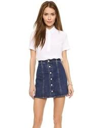 weiße Kurzarmbluse von AG Jeans