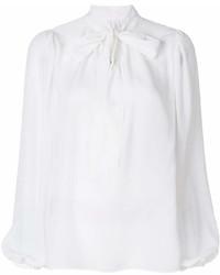 weiße Langarmbluse von Dolce & Gabbana