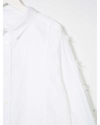 weiße Langarmbluse von Burberry