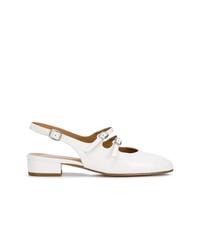 weiße Leder Ballerinas von Carel