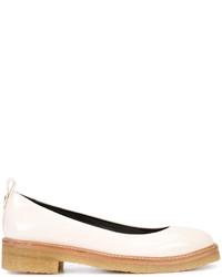 weiße Leder Ballerinas von Lanvin