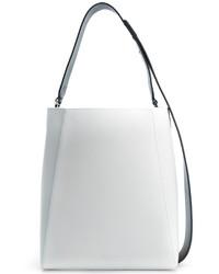 weiße Leder Beuteltasche von Calvin Klein