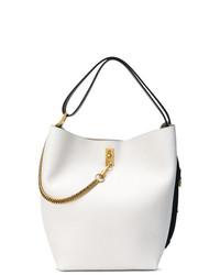 weiße Leder Beuteltasche von Givenchy