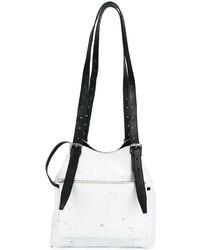 weiße Leder Beuteltasche von MM6 MAISON MARGIELA
