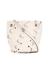 weiße Leder Beuteltasche von Proenza Schouler