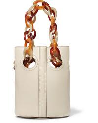 weiße Leder Beuteltasche von Trademark