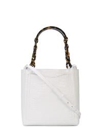 weiße Leder Clutch von Edie Parker