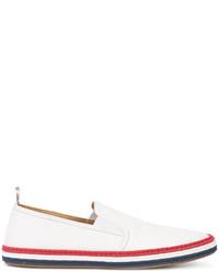 weiße Leder Espadrilles von Thom Browne