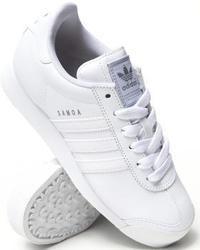 weiße Leder niedrige Sneakers