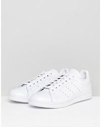 weiße Leder niedrige Sneakers von adidas Originals