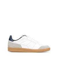 weiße Leder niedrige Sneakers von AMI Alexandre Mattiussi