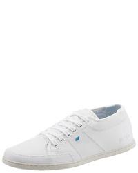 weiße Leder niedrige Sneakers von Boxfresh