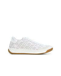 weiße Leder niedrige Sneakers von Burberry