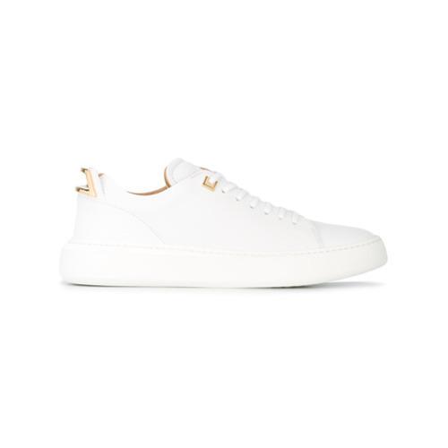 weiße Leder niedrige Sneakers von Buscemi