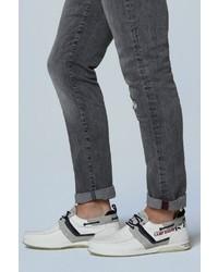 weiße Leder niedrige Sneakers von Camp David
