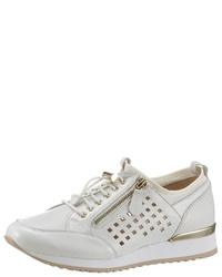 weiße Leder niedrige Sneakers von Caprice