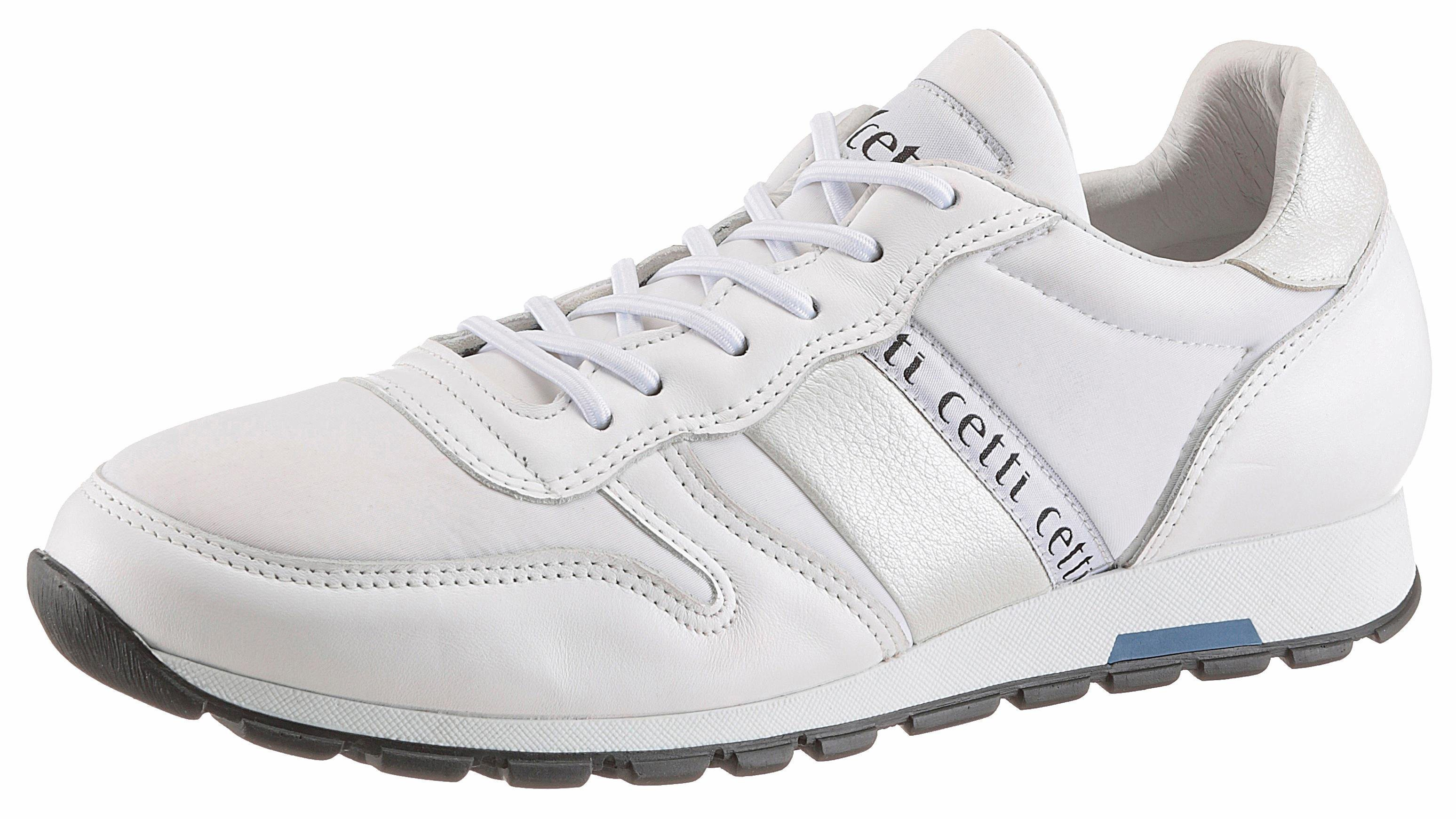 weiße Leder niedrige Sneakers von Cetti