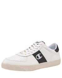 weiße Leder niedrige Sneakers von Champion
