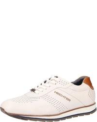 weiße Leder niedrige Sneakers von Daniel Hechter