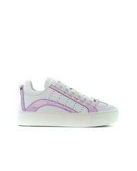 weiße Leder niedrige Sneakers von Dsquared2