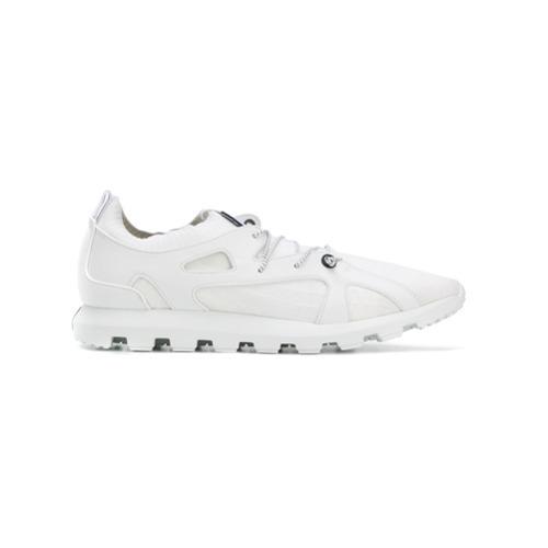 weiße Leder niedrige Sneakers von Ermenegildo Zegna
