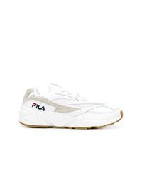 weiße Leder niedrige Sneakers von Fila