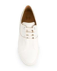 weiße Leder niedrige Sneakers von Both