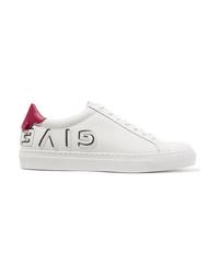 weiße Leder niedrige Sneakers von Givenchy